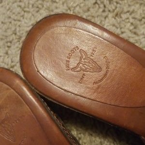 Frye boots wedge slide
